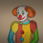 Clownstatue